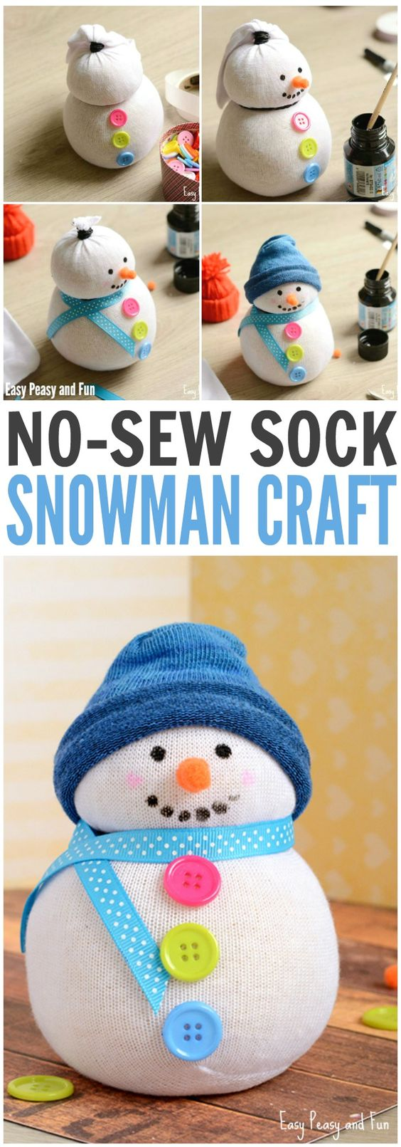Simple And Cute Snowman Craft Ideas That You Can Try When Are Bored