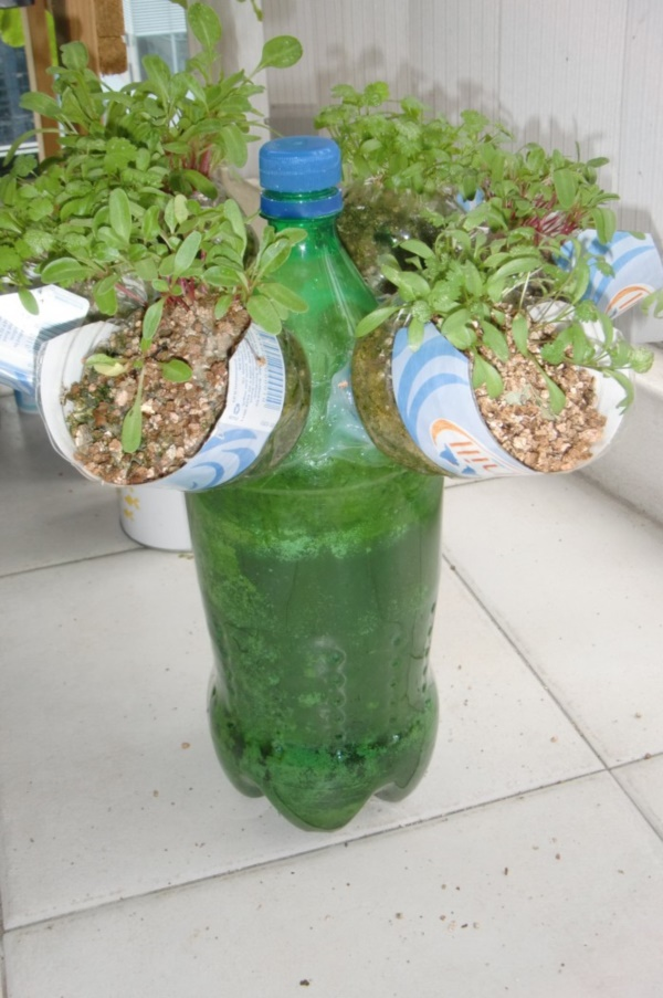 40 brilliant plastic bottle garden ideas for Things that can be made out of plastic bottles