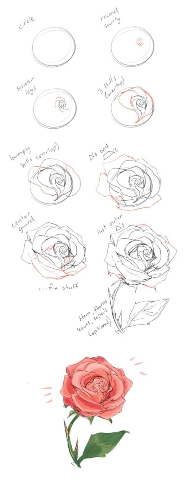 A Little Bit Of Asymmetry Here And There Would Not Hurt At All Then Add  The Tips Of The Petals In The Spaces Between The First Layers Of Petals To  Make It