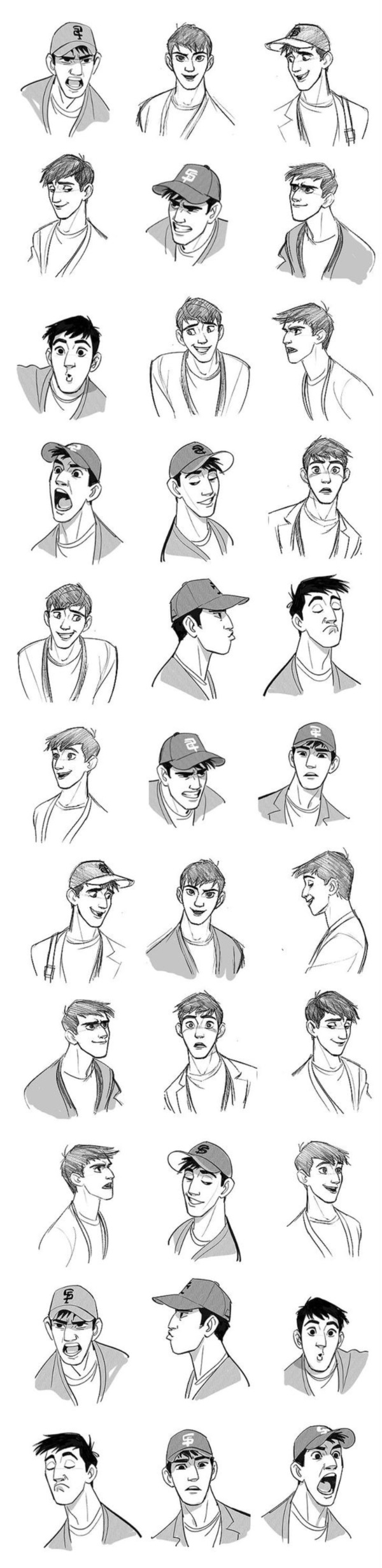 Handy Facial expression drawing Charts For practice8