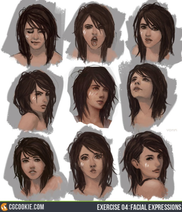 Handy Facial expression drawing Charts For practice11