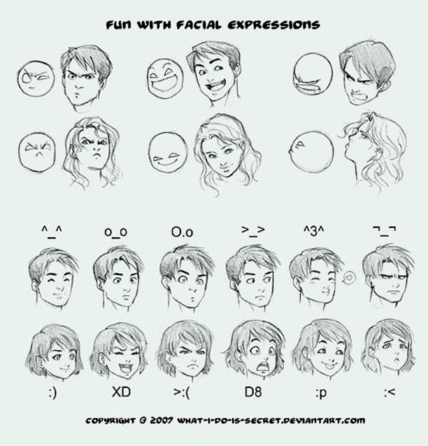 Handy Facial expression drawing Charts For practice15