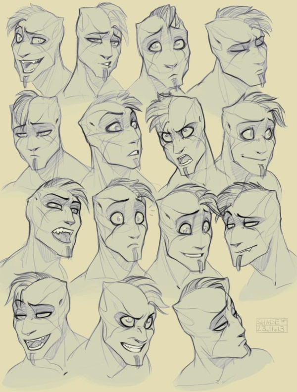 Handy Facial expression drawing Charts For practice28