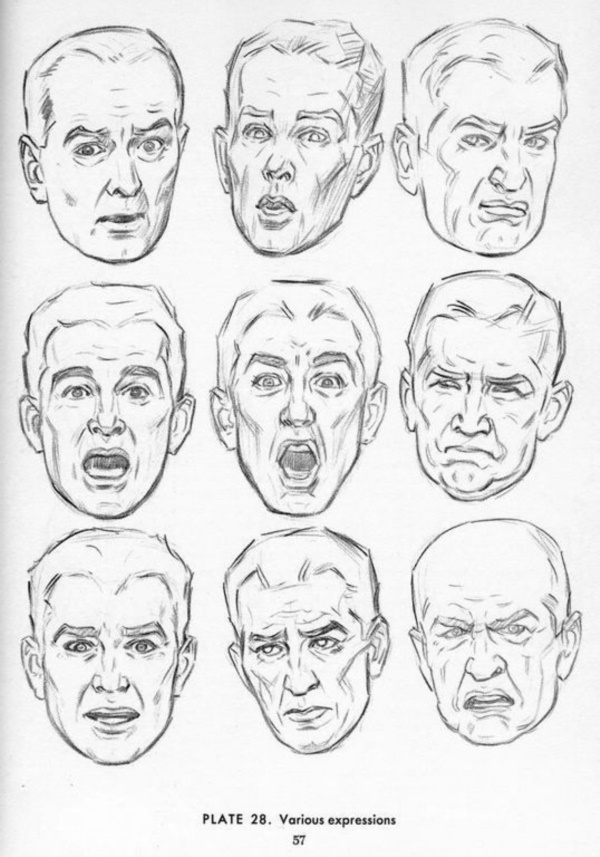 Handy Facial expression drawing Charts For practice29
