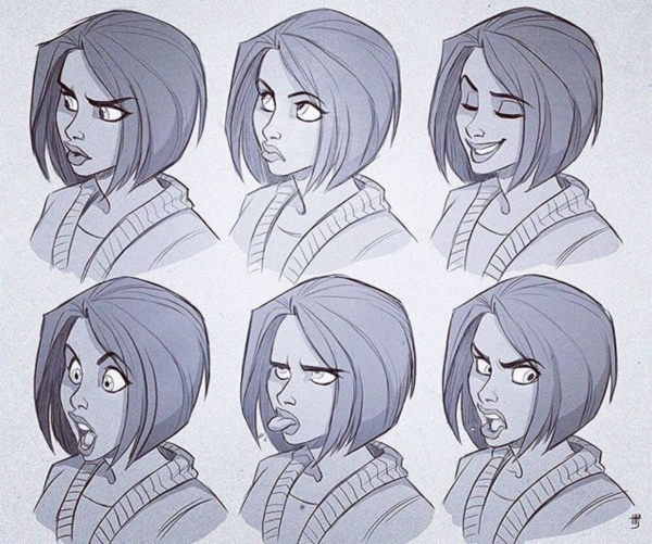 Handy Facial expression drawing Charts For practice37