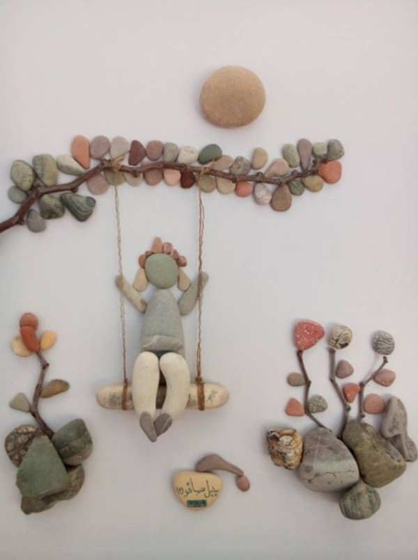 Handy Rock And Pebble Art Ideas For Many Uses25