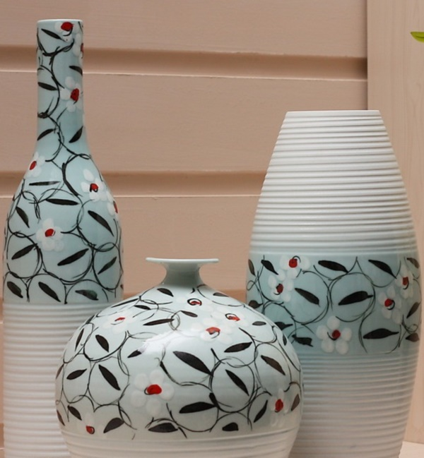 More pottery painting ideas and crafts for Ceramic house paint