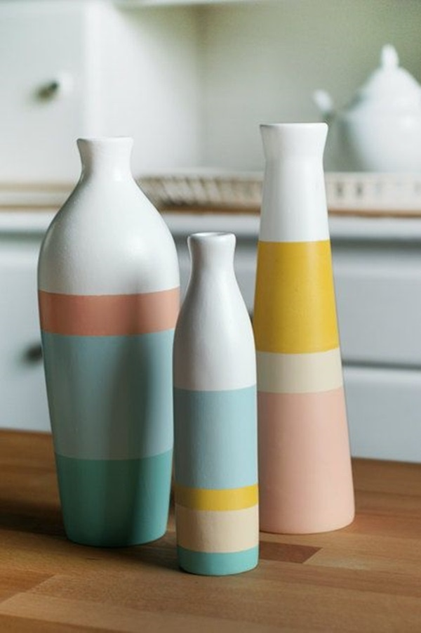More pottery painting ideas and crafts for Pottery vase ideas