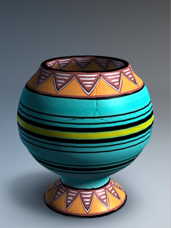 More pottery painting ideas and crafts for Design patterns for pot painting