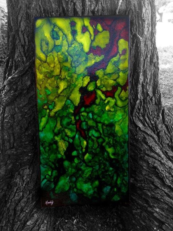 Original Alcohol Ink On Glass Examples1