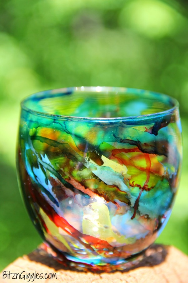 40 original alcohol ink on glass examples for Paint to use on glass