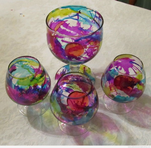 Original Alcohol Ink On Glass Examples39