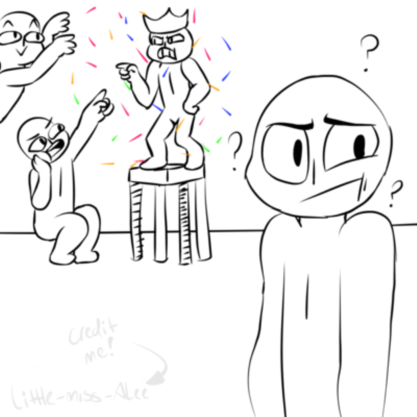 Draw Your Squad - 40 Examples Sad Cat Lineart