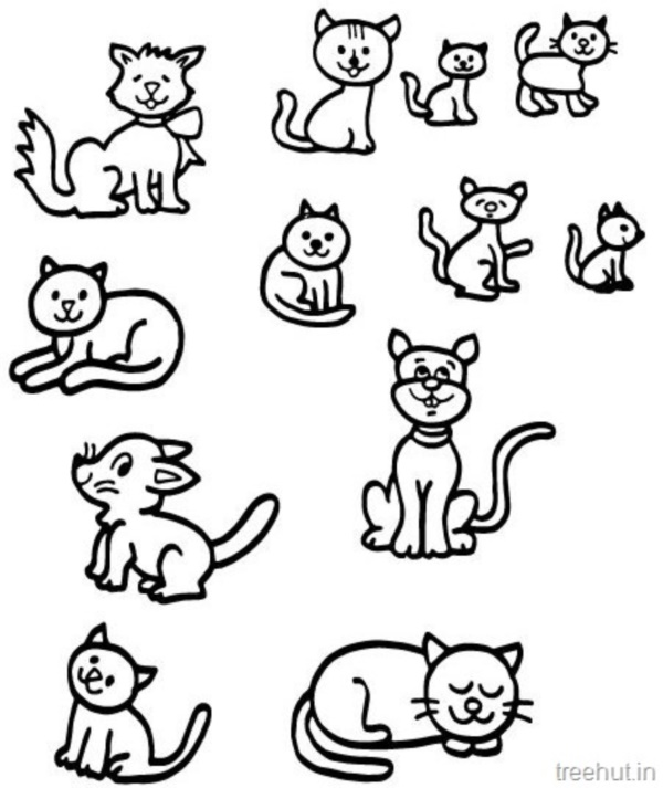 Simple Line Art Example : Simple cat drawing examples anyone can try