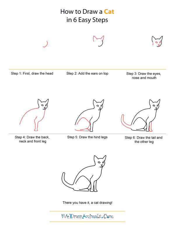 40 simple cat drawing examples anyone can try for Fun to draw cat