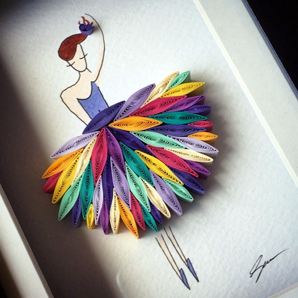 40 creative paper quilling designs and artworks for Creative paper art