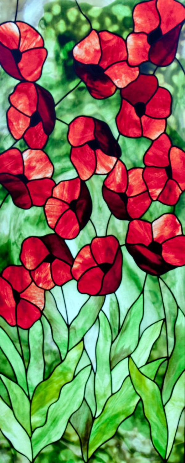 40 glass painting ideas for beginners for Window shapes and designs