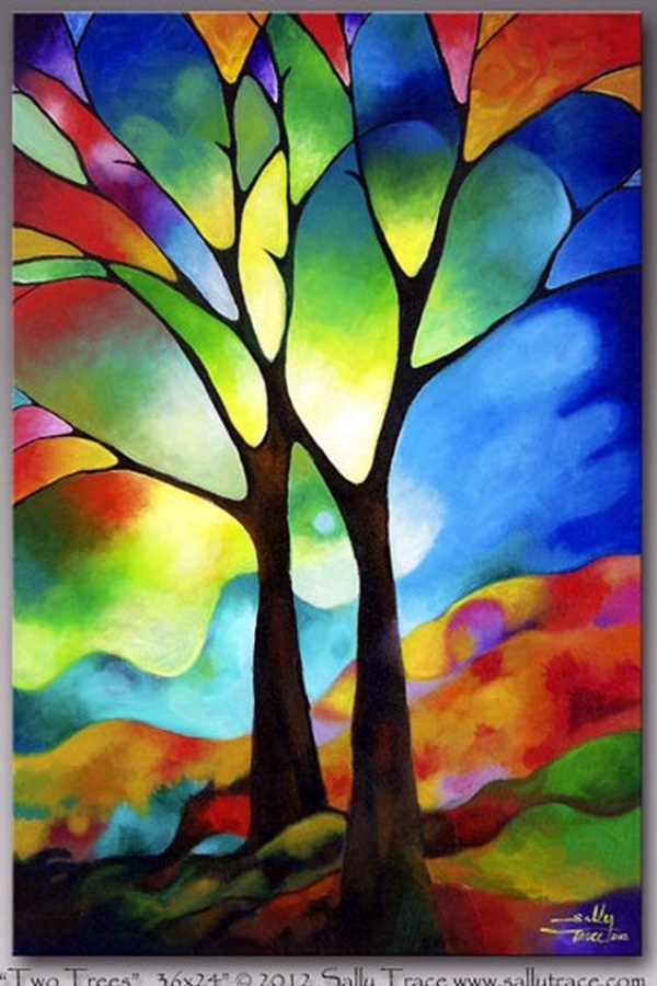 40 glass painting ideas for beginners for Simple glass painting pictures