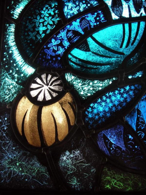 Hand Painted Stained Glass Panels