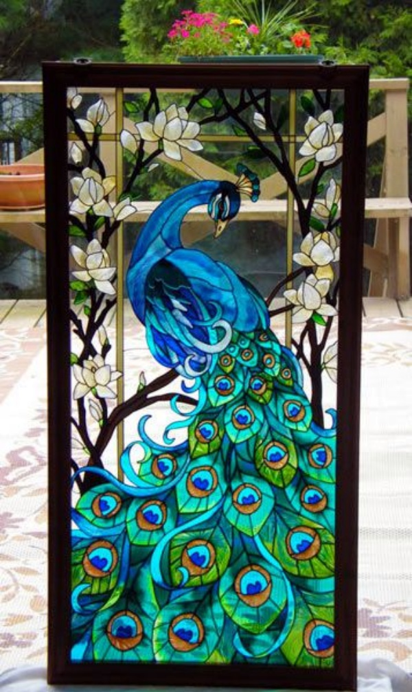 40 glass painting ideas for beginners for Back painted glass designs for wardrobe