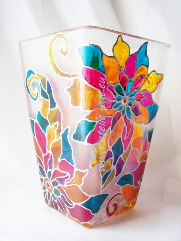 The gallery for easy glass painting designs for beginners for Easy glass painting designs
