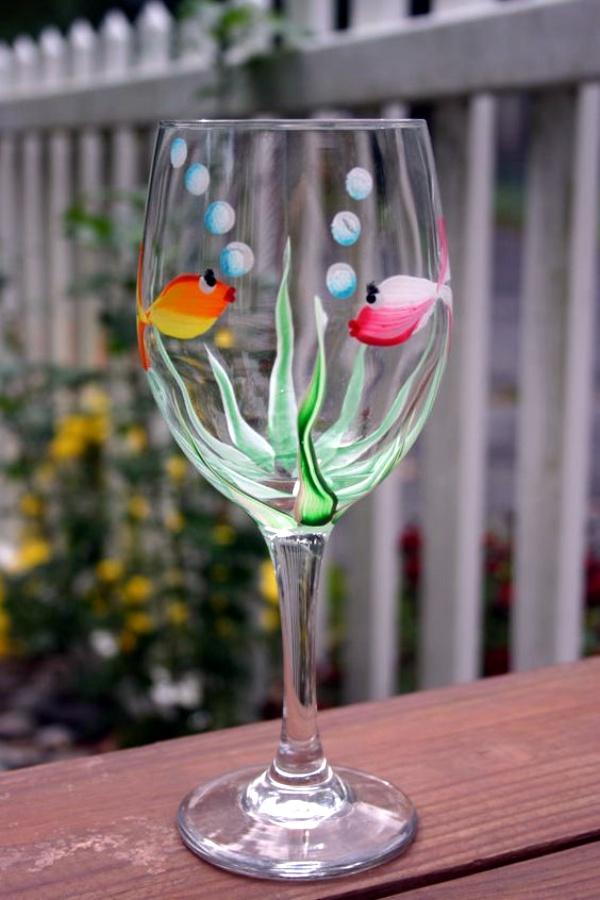 Easy Glass Painting Designs On Bottles