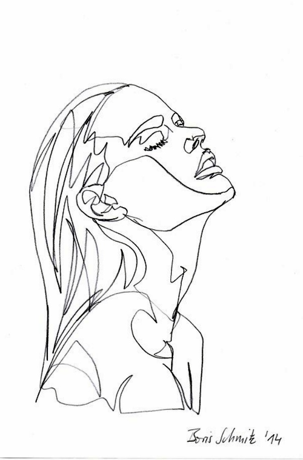 Simple Continuous Line Art : Best examples of line drawing art