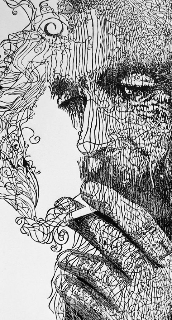 Line In Art And Design : Best examples of line drawing art