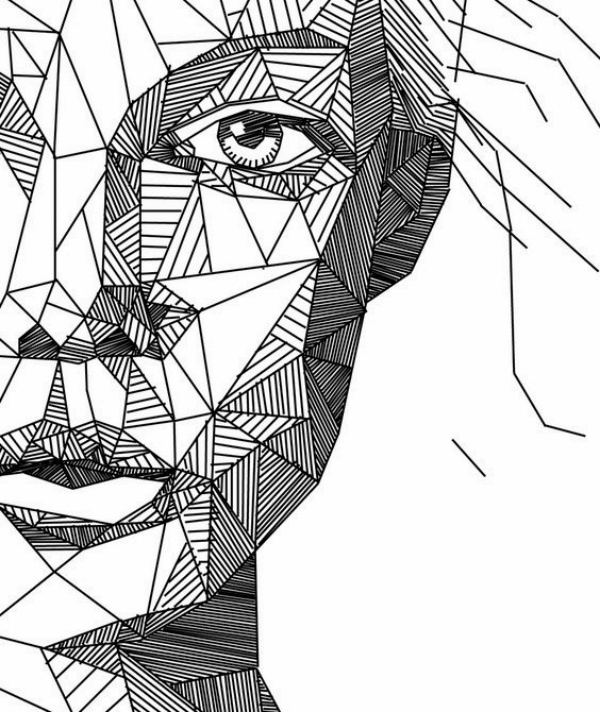 Line Art Typography : Best examples of line drawing art