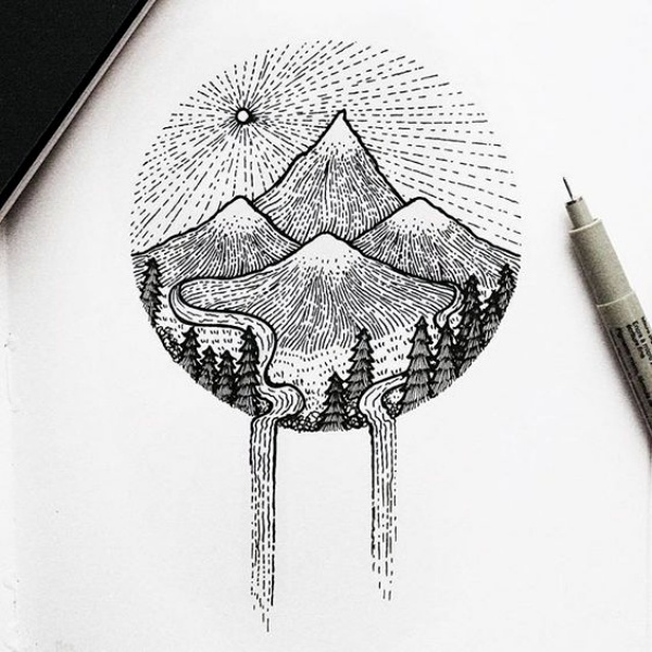 Easy Visual Arts: 40 Best Examples Of Line Drawing Art