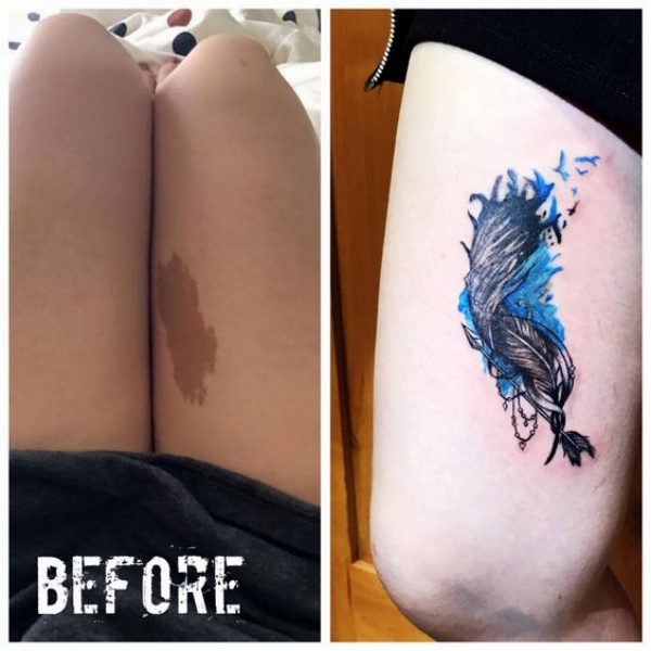30 best tattoos that cover birthmarks
