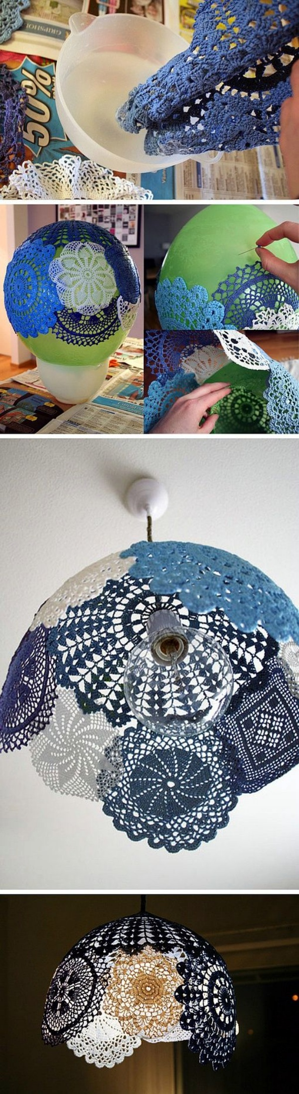 40 creative doily craft ideas for you if expensive glass chandeliers are amazing then these paper doily chandeliers are a wonderful surprise and they wouldnt even lighten your pocket jeuxipadfo Images