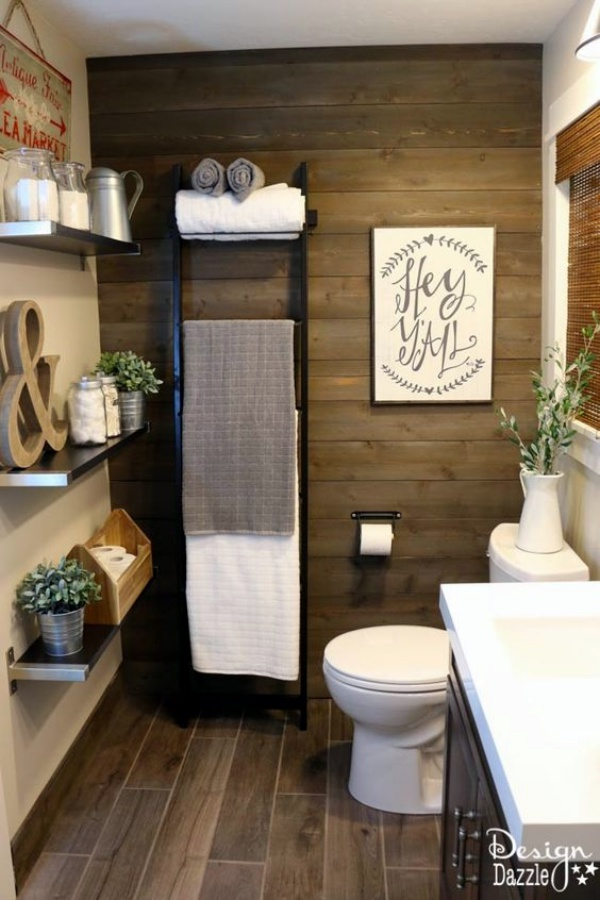 40 Movie Style Rustic Bathroom Decor Ideas