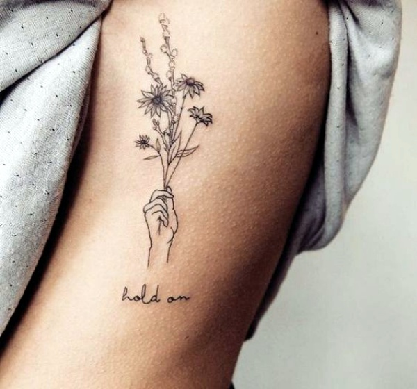 32 Best No Line Flower Tattoo Images On Pinterest