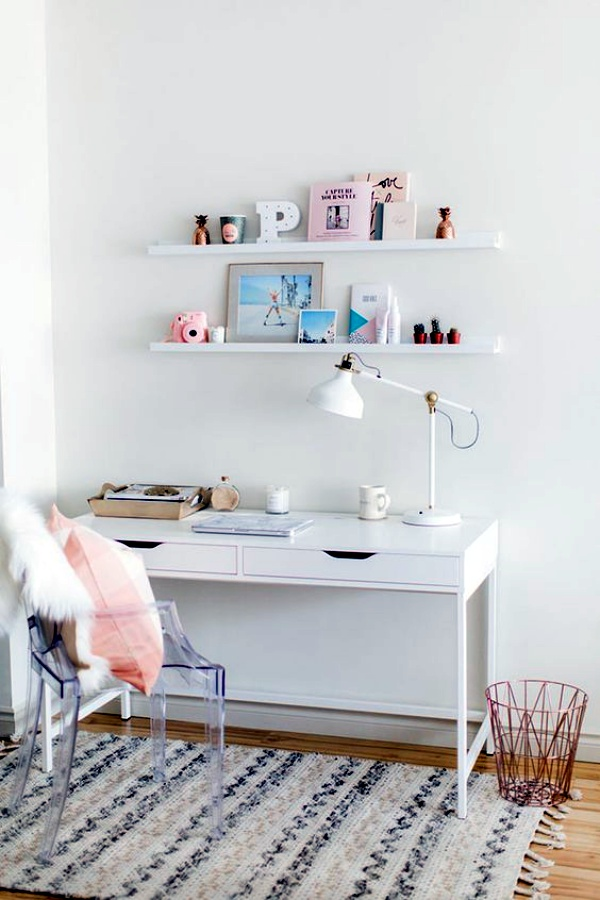 Simple feminine desks ideas