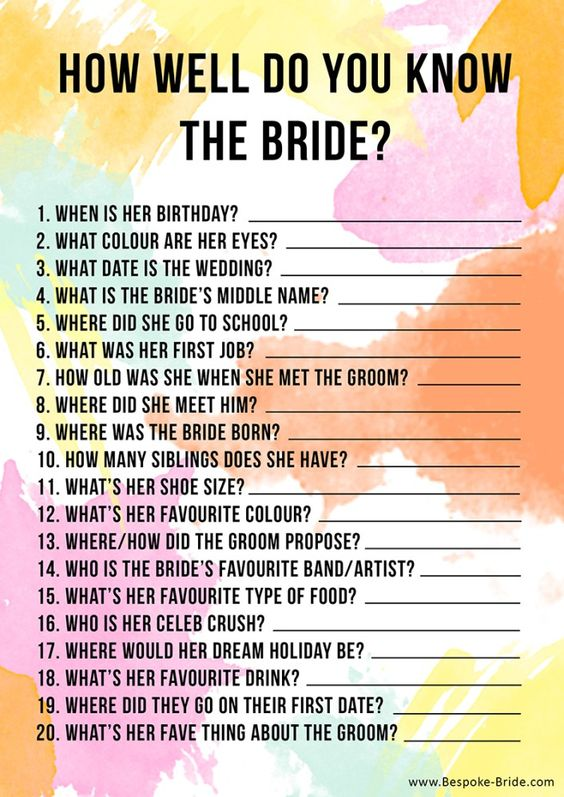 15 Non-Boring Bridal Shower Games