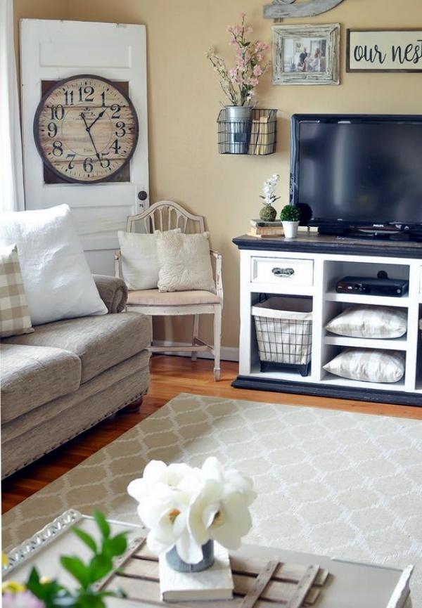 Living Room Decor Ideas: 40 Like-Old-Days Country Home Decor Ideas