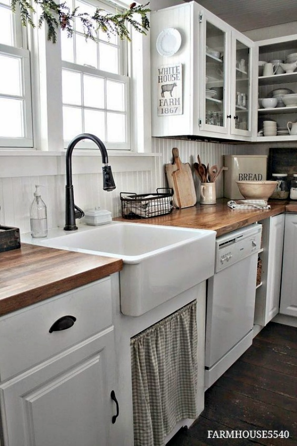 farmhouse kitchen country decor backsplash old popular kitchens small house modern most style like days models cabinet cabinets sink farm