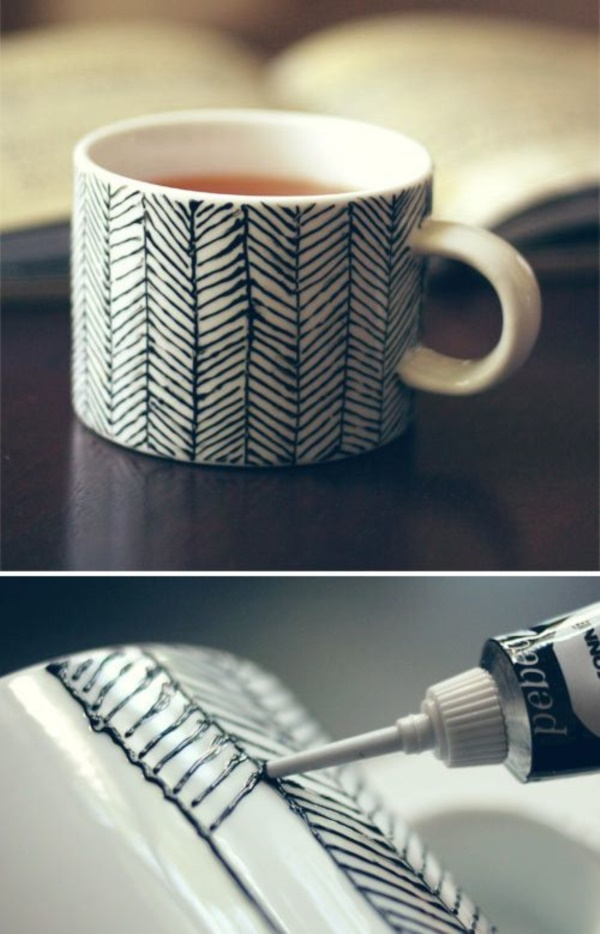 40 ceramic coffee cup designs which are out of the world for Coffee painting designs