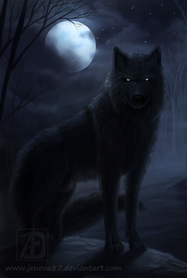 Majestic Wolf Paintings that will Leave You Amazed Glowing Eyes Anime