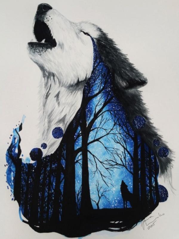 Majestic Wolf Painting...