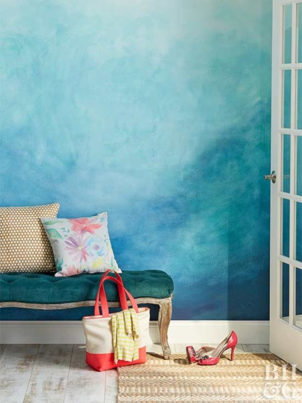 Moving watercolor wall designs for your home - Painting designs for walls in your home ...