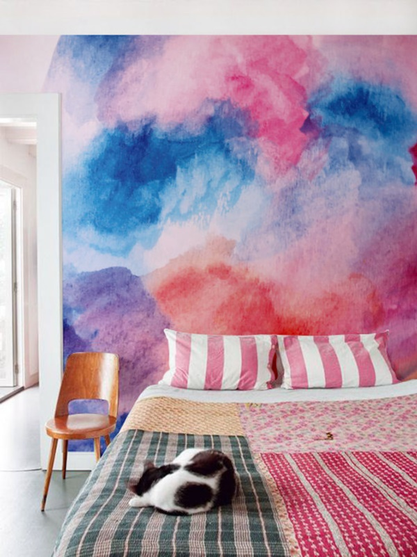 moving watercolor wall designs for your home