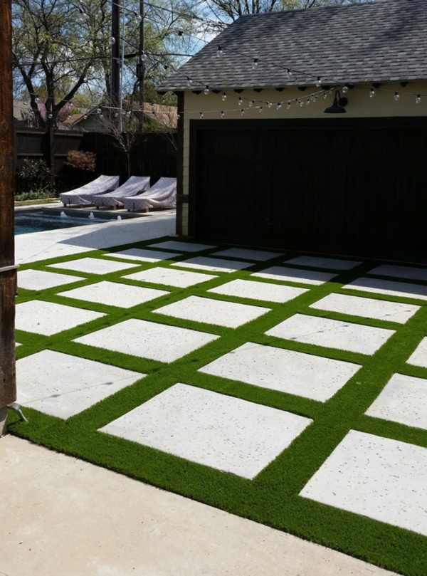 40 Pro Artificial Grass Ideas to Look Into - Bored Art on Backyard Ideas Concrete And Grass id=22352