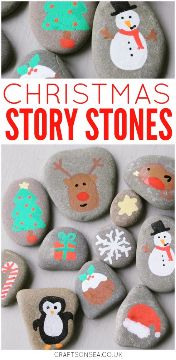 35 DIY Christmas Painted Rock Ideas Bored Art