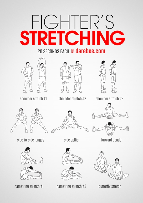 40 Charts of Post Workout Stretches to Prevent Injuries ... - photo#7