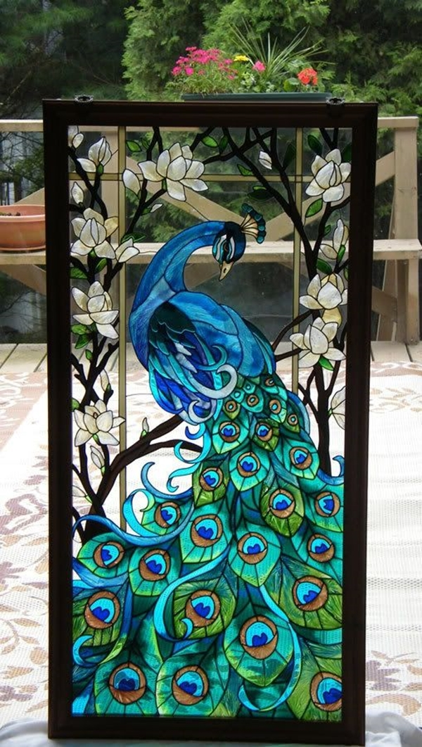 40 easy peacock painting ideas which are useful bored art for Easy peacock paintings