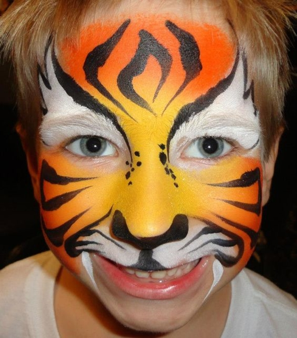 40 Easy Tiger Face Painting Ideas for Fun - Bored Art