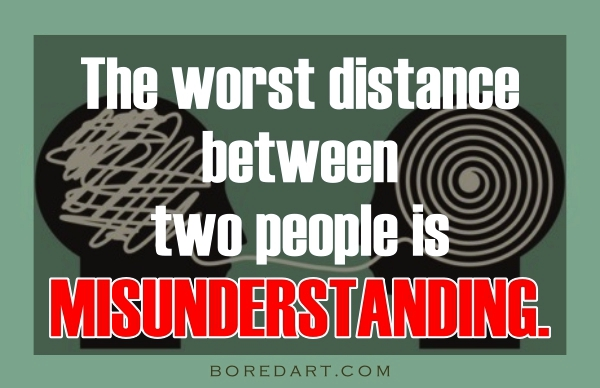 Misunderstanding Quotes Between Lovers