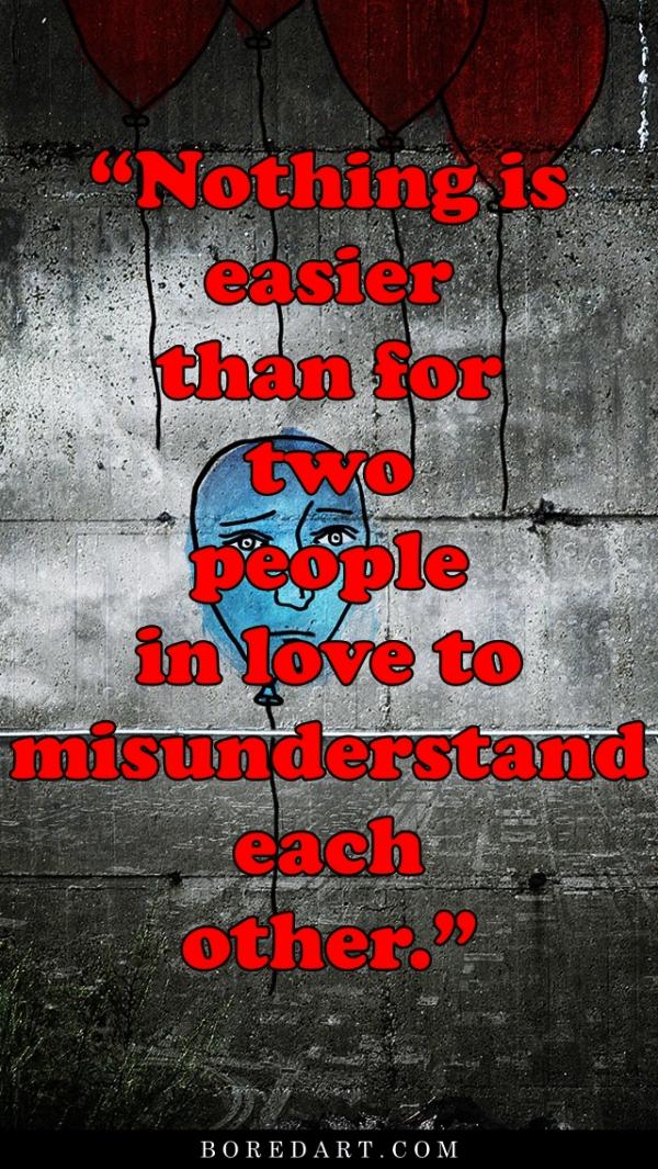 Misunderstanding Quotes Between Lovers